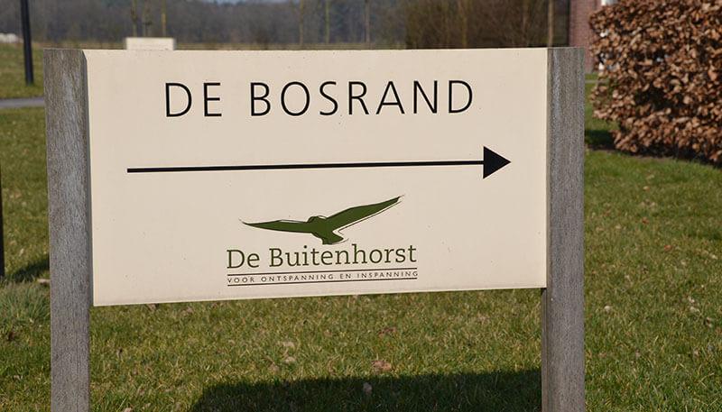 Welkomstbord De Bosrand
